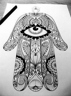 (66) hamsa tattoo | Tumblr