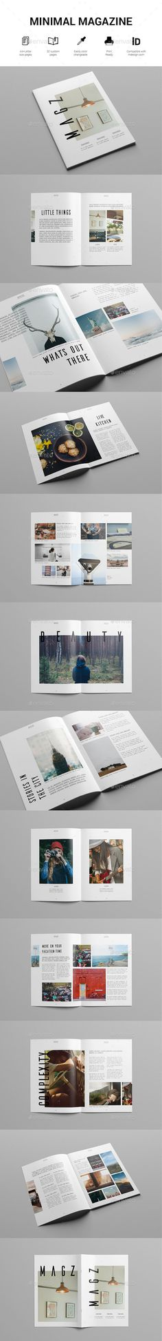 Minimal Lifestyle Magazine Template — InDesign INDD #style #minimal • Available here → https://graphicriver.net/item/minimal-lifestyle-magazine-template/13489075?ref=pxcr