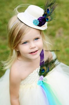 Such a cute look for a flower girl!
