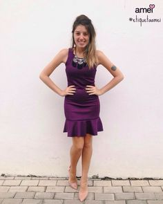 Vestidos lindos #etiquetaamei  #lojaamei #vestido #roxo #melissa #festa #chic