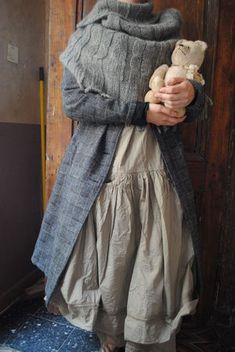 Atelier des Ours // Mori Girl - want that warm scarf hood poncho thing!