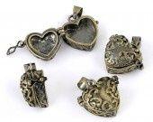 PENDENTIF BRELOQUE CHARM COEUR OUVRANT BRONZE : Autres breloques par breloques-et-bijoux