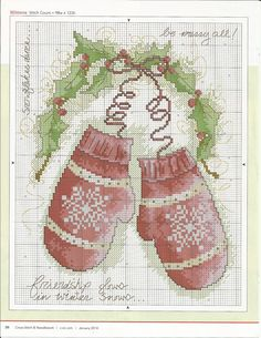 Christmas cross stitch pattern / Yılbaşı çarpı işi deseni
