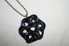 Galaxy Black Flower Soda Tab Necklace