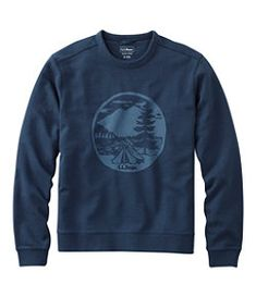 #LLBean: Bean's Essential Crewneck Sweatshirt, Graphic Tent Leggings Fashion, Boy Fashion, Crew Neck Sweatshirt, Fashion Photography, Llbean, Sweatshirts, Toddlers, Tent, Fashion Accessories