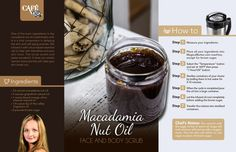 Macadamia Oil Face & Body Scrub Recipe - MagicalButter