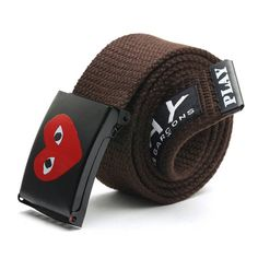 CDG Comme Des Hip Hop Young Hipster Men Belt Canvas Woven Automatic Belts For Jeans YJWB009