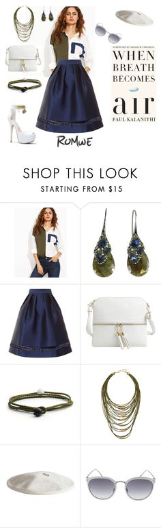"""when breath becomes air"" by agnesmakoni ❤ liked on Polyvore featuring Alexis Bittar, Chi Chi, Epic Chic, Lokai, Fragments, Janessa Leone and Linda Farrow"