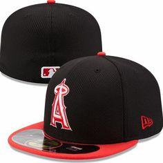 Los Angeles Angels of Anaheim New Era MLB Diamond Era Pop 59Fifty Fitted Hat (Black)