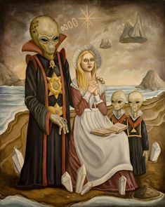 Ancient Alien mysteries/ hybrids of yore Alien Gris, Arte Sci Fi, Sci Fi Art, Aliens And Ufos, Ancient Aliens, Art Alien, Sci Fi Kunst, Rick Genest, Science Fiction Kunst