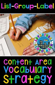 Adventures of a Schoolmarm    Content Area Reading Strategies    List-Group-Label    Tutorial on how use this strategy!