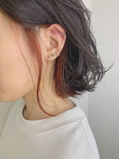 Dyed Curly Hair, Half Dyed Hair, Half And Half Hair, Dye My Hair, Curly Hair Styles, Hidden Hair Color, Two Color Hair, Half Colored Hair, Pink Hair Streaks
