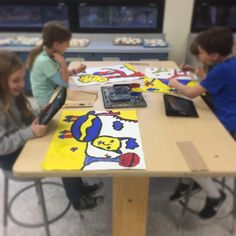 #RMES students mixing technology and art this afternoon in art class! Primary color animals inspired by Alexander Calder's paintings. We sketched different animals in our sketchbook. Then chose one to draw lightly with no details on large 18x24 white paper. Then outlined in black and painted only in primary colors. #redmillelementary #february #art #art_teacher #art_lesson #art_project #vbschools #rmes #va #vabeach #artteacher  #elementaryartclass #elementaryartteacher #elementaryarted…