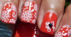 NailArt and Things: Lakmé Flaming Orange + Indian Nail Art