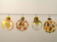 Hollowed glass Christmas ornaments