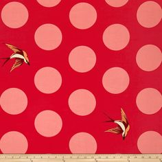 Tula Pink Free Fall 108'' Wide Quilt Back Lipstick Fabric