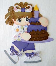 Birthday Girl Paper Piecing Set Embellishment PreMade 4 Borders Scrapbooks Album