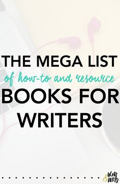 Best books for writing a novel