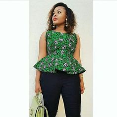 Collection of the most beautiful and stylish ankara peplum tops of 2018 every lady must have. See these latest stylish ankara peplum tops that'll make you stun Ghanaian Fashion, Latest African Fashion Dresses, African Dresses For Women, African Print Fashion, African Attire, African Prints, African Women, Ankara Fashion, African Bridesmaid Dresses