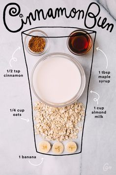 Smoothies That Taste and Look So Good We Want to Cry Yum! A healthy smoothie recipe that tastes like a cinnamon bun! Best healthy breakfast idea ever! A healthy smoothie recipe that tastes like a cinnamon bun! Best healthy breakfast idea ever! Smoothies Vegan, Easy Smoothie Recipes, Easy Smoothies, Smoothie Drinks, Healthy Breakfast Smoothies, Almond Milk Smoothie Recipes, Nutribullet Recipes, Banana Oat Smoothie, Oatmeal Smoothies