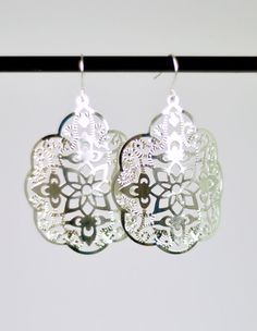 Boho Chic Earrings in Silver with Silver filled Ear by StephieMc, $15.99