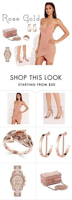 """""""Untitled #282"""" by mink-nppbv ❤ liked on Polyvore featuring Missguided, Effy Jewelry, Jenny Bird, MICHAEL Michael Kors and Chanel"""