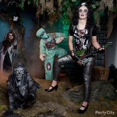 These days a zombie girl can be anyone she wants – she might even be a rock star! #partycity and #halloween