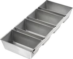 USA Pan Bakeware Aluminized Steel Strapped Mini Loaf Pan, Set of 4 -- Special product just for you. Cake Decorating Supplies, Baking Supplies, Baking Tools, Baking Pans, Kitchen Supplies, Baking Ideas, Kitchen Tools, Kitchen Dining, Strawberry Brownies