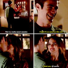 """This is a really sweet sweater"" - Barry and Patty #TheFlash"