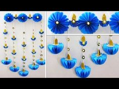 Diwali Special Door Hanging Making At Home Door Hanging Decorations, Diwali Decorations At Home, Wall Hanging Crafts, Easy Christmas Decorations, Diy Party Decorations, Paper Decorations, Paper Wall Hanging, Diy Hanging, Festival Decorations