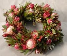 Australian Xmas wreath - made with Waratah's