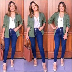 Mas sei me virar! Business Casual Outfits, Casual Fall Outfits, Simple Outfits, Diva Fashion, Fashion Looks, Fashion Outfits, Mom Outfits, Cute Outfits, Khakis Outfit
