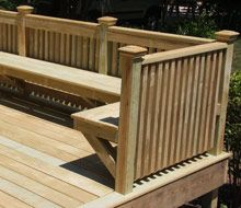 Edgewater Front Porch, Rails and Newel Posts Front Porch Stairs, Porch Columns, Porch Steps, Front Steps, Craftsman Style Porch, Craftsman Interior, Porch Railing Designs, Front Porch Design, Deck Furniture