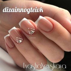 The advantage of the gel is that it allows you to enjoy your French manicure for a long time. There are four different ways to make a French manicure on gel nails. Nail Manicure, Diy Nails, Cute Nails, Pretty Nails, New French Manicure, French Nails, French Manicures, Bride Nails, Wedding Nails