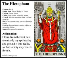 Journaling Holistic Change With The Hierophant - Holistic Correspondences for The Hierophant