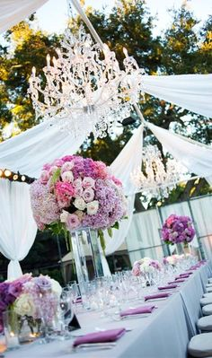 Outside wedding. Love Flowers