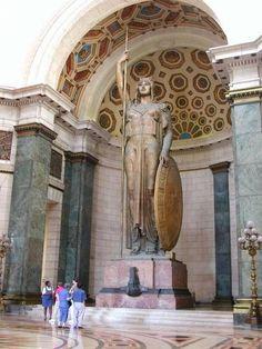 Statue of Minerva (Athena) The Statue of The Republic in the Capitolio, La Habana, Cuba Cuban Architecture, Vintage Cuba, Roman Sculpture, South Of The Border, Cuba Travel, Island Nations, Havana Cuba, Beautiful Places To Visit, Beautiful Islands