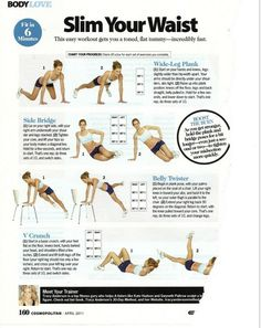 wide-leg plank, side bridge, belly twister, and v crunch. This easy workout gets you a toned, flat tummy - incredibly fast.