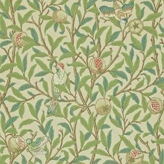 Products | Style Library Contract - Designer Fabrics and Wallpapers | Bird & Pomegranate (DARW212539) | Morris Archive Wallpapers II
