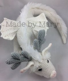 Dragon! :)  PDF Pattern: Winter Dragon Crochet pattern only not actual