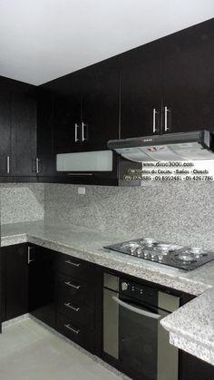 cocina integral color wengue moderna - Buscar con Google