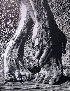 Dancers feet by Steven Burke lino project with emphasis on cross contour and contrasting textures image: lino Steven Burke, Linocut Prints, Art Prints, Block Prints, Photographie Portrait Inspiration, Texture Images, Arte Sketchbook, Scratchboard, Illustrator