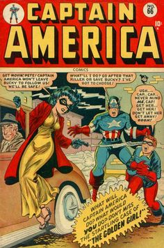 Captain America Comics # 66 by Syd Shores