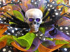 Halloween Green Orange and Purple with Skull by NicoleDCreations, $89.99
