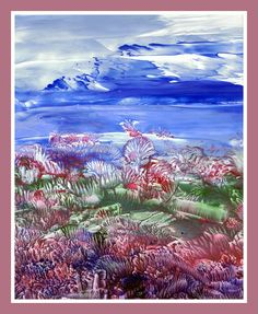 Landschap geschilderd met bijenwas door Beika Kruid Encaustic Art, Land Art, Mermaid, Mountains, Nature, Painting, Paint, Painting Abstract, Cards