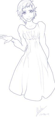 Personaje-lineart by Yoake-Jurietto-Shiro.deviantart.com on @deviantART