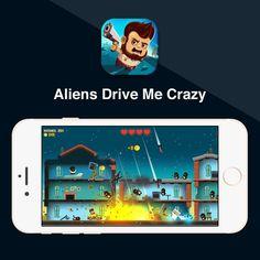 En Aliens drive me crazy, los alienígenas atacan el planeta Tierra. Han destruido los satélites privando a los supervivientes de cualquier medio de comunicación. ¡Coge tu coche para ayudarles a combatirlos! #crazy #aliens #drive http://www.pandabuzz.com/es/app-del-dia/Aliens-drive-me-crazy-Cezary-Rajkowski