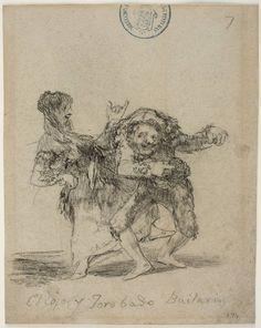 Goya en El Prado: El Cojo y Jorobado Bailarin Francisco Goya, Rembrandt Etchings, Charcoal Sketch, Spanish Artists, Old Master, Artist Painting, Ink Art, Portrait, Printmaking