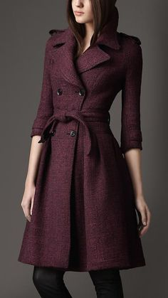Burberry London Autumn/Winter 2012 Full Skirted Tweed Coat