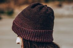 """""""Icart Point Hat,"""" by Fiona Alice, knit in Fibre Company Acadia."""